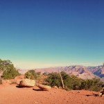 Panoramic view of Cedar Ridge along the South Kaibab Trail