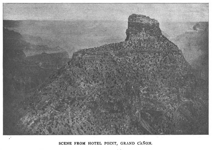 Old photo of view from Hotel Point on Grand Canyon's South Rim.