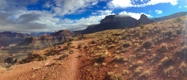 By mid-afternoon, the clouds began to clear, and the South Rim was visible from Skeleton Point.