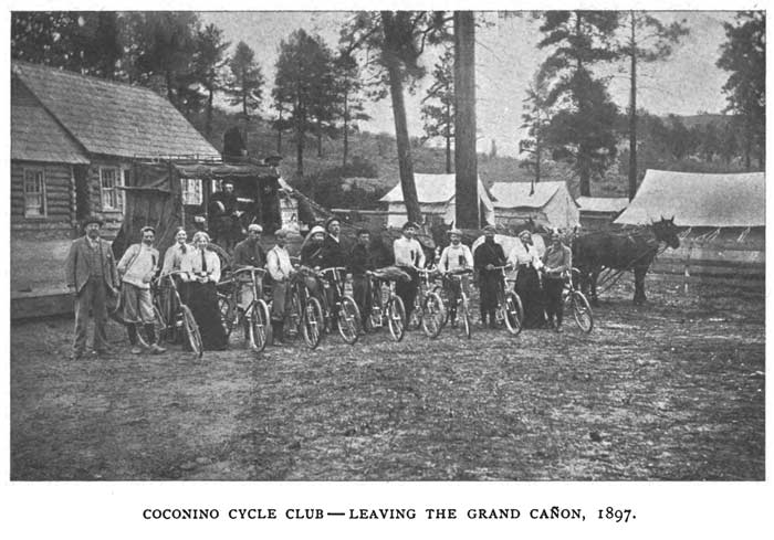 Coconino Cycling Club at Grand Canyon 1897