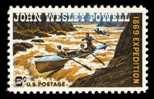 1969 stamp commemorating centennial of John Wesley Powell's 1869 expedition